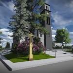 Wizualizacja po modernizacji obejścia wokół kościoła